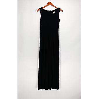 Laurie Felt Dress XXS Sleeveless Scoop Neck Maxi Dress Black A292615