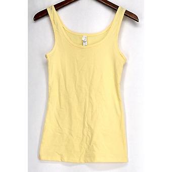 Next Level Top Essential Sleeveless Tank Yellow Womens