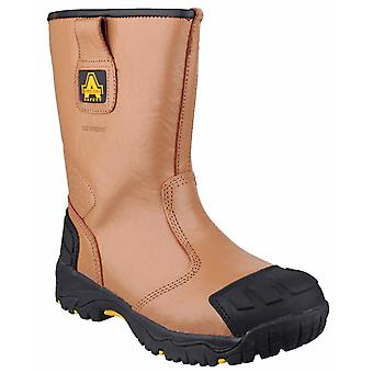 Amblers Safety Mens FS143 Impermeabile tirare su Sicurezza Rigger Boot Tan