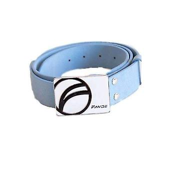 Fayde golf pu, metal buckle golf belt blue