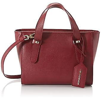 Borbonese 923679j04 Red Woman Hand Bag (Burgundy) 25x20x11 cm (W x H x L)