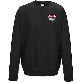 Ducati Corse - Motorrad Biker bestickt Logo - Sweatshirt