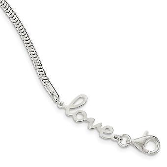 925 Sterling sølv Love armbånd-7,5 tommer