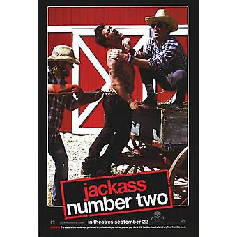 Jackass filmen nummer 2 (dubbelsidig) original Cinema affisch
