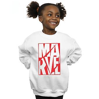 Marvel Girls Portrait Logo Sweatshirt