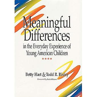 Différences significatives dans l'expérience quotidienne des jeunes enfants américains