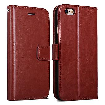 IPhone 7/8 wallet case shell clutch case brown