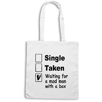 White shopper bag wtc1469 single taken mad man with a box