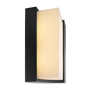 LED utvändig vägglampa Tangulo antracit 148x220mm 3000K 8.5 W