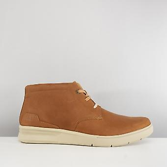 CAT Lifestyle Theorem Mens Leather Casual Boots Ginger