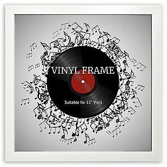 "Oxford 12"" LP Vinyl Record Frame Square White Memorabilia Wall Album Art Display"