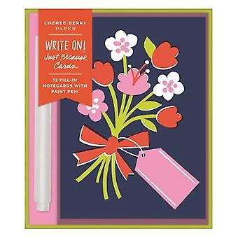 Cheree Berry Just Because Writeon Cards by Galison