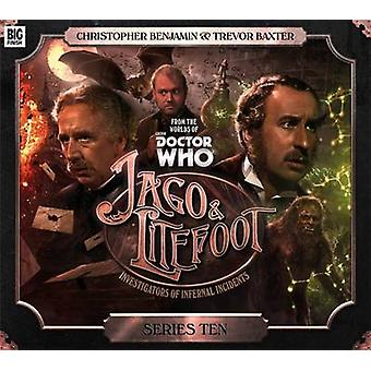Jago amp Litefoot Series 10 by Cover design or artwork by Tom Webster & By composer Howard Carter & By composer Jamie Robertson & Performed by Christopher Benjamin & Performed by Trevor Baxter & Director Lisa Bowerman