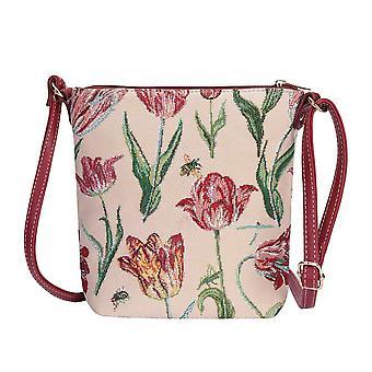 Marrel's tulip white shoulder sling bag by signare tapestry / sling-jmtwt