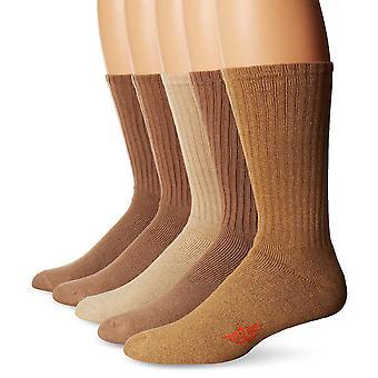 Dockers Men-apos;s 5 Pack Cushion Comfort Sport Crew Socks, Khaki,, Khaki, Taille 6.0
