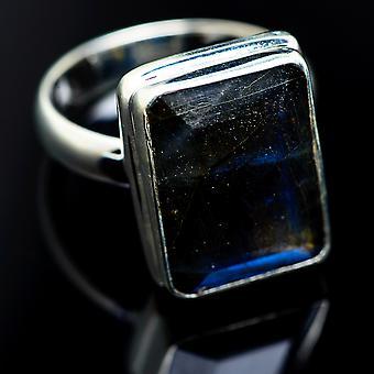 Labradorite 925 Sterling Silver Ring Size 8.5  - Handmade Boho Vintage Jewelry RING984201