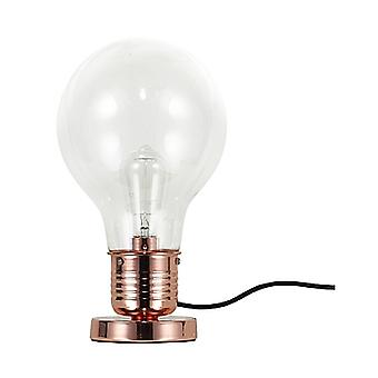 Retro Table Lamp With Vintage Bulb