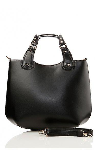 Faux Leather Tote Boat Bag