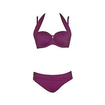 Opera 61007-43 Women's Tropical Vibes Pink Swimwear Beachwear Bikini Set
