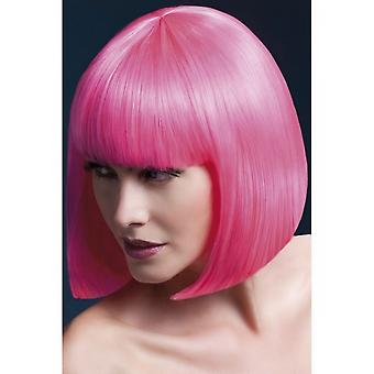 Smiffy's Fever Elise Wig - Neon Pink
