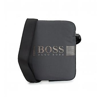 Hugo Boss   50416991 Pixel Pouch Bag - Gunmetal