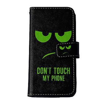 Älä koske minun puhelin matkapuhelin tapauksessa Apple iPhone 7 iPhone 8 smiley black vihreä