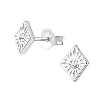 الماس على شكل-ترصيع الإذن كريستال فضة 925-W36626x