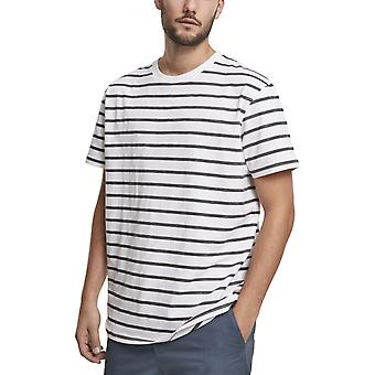 Urban Classics - Basic Stripe Oversized Shirt white