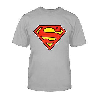 Kids Superman T Shirt superhero Logo Official DC Comics Grey Age 3-15 years