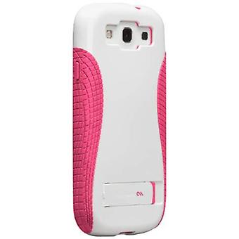 Case-Mate POP! 2 Case with Stand for Samsung Galaxy S3 - White/Pink