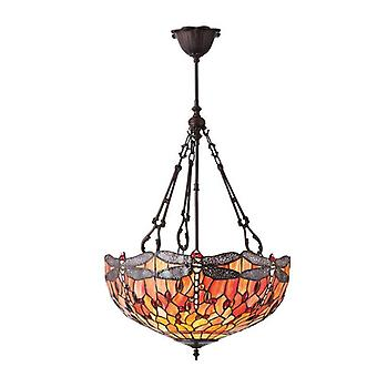 Dragonfly Flame Large Inverted 3lt Pendant 60w