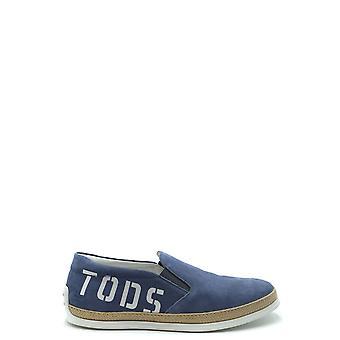 Tod's Ezbc025076 Men's Blue Suede Loafers