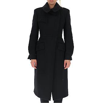 Alexander Mcqueen 588993qkaaa1000 Mujeres's Abrigo de lana negra