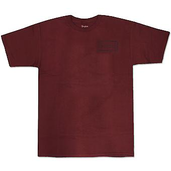 Brixton Rift t-paita viininpunainen Navy