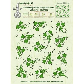 LeCrea Border Embossing Folder - Grapes Background (14.4x16cm)