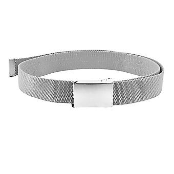 Unisex Webbing Belt with Flip Closure Buckle