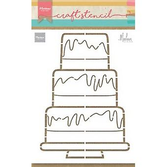 Marianne Design Craft Stencil Party Cake By Marleen Ps8057 210x149mm