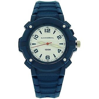 Cannibal Active Boys White Dial Luminous Hands Blue Plastic Strap Watch CJ242-05