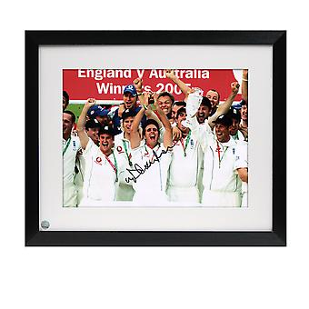 Michael Vaughan Signed England Cricket Photo: Ashes Winners 2005. Framed