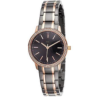 JOBO reloj de pulsera de mujer cuarzo analógico acero inoxidable bicolor con SWAROVSKI® ELEMENTOS