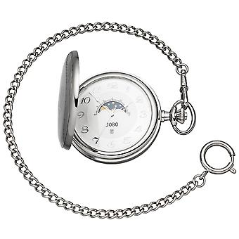 JOBO Pocket Watch Kvarts Analog ChromeD Dag-Natt Hoppa Lock