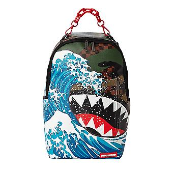 Sprayground Camokawa Wave Shark Backpack