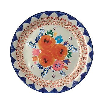 Boho Spice Plates Floral Party Plates x 12