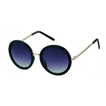 round black/gold women's sunglasses (PZ20-064)