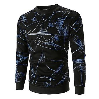 Cloudstyle Men's Sweatshirt Printing Round Neck Thickened Pullover