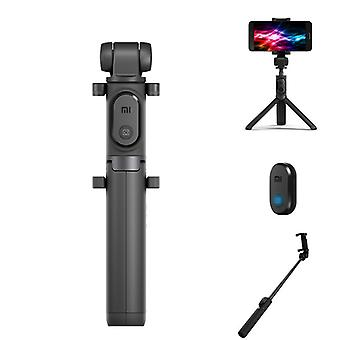 Original xiaomi 2 in 1 bluetooth mini extendable folding tripod selfie stick for mobile phone (black)