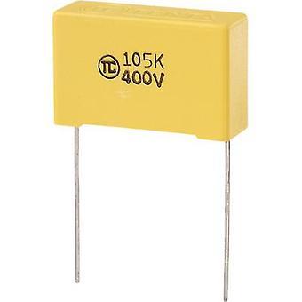 רכיבי טרו 1 pc (עם) חברי הכנסת הסרט דק קבל מוביל 1 μF 400 V DC 5% 27.5 mm (L x W x) 32 x 11 x 20 מ