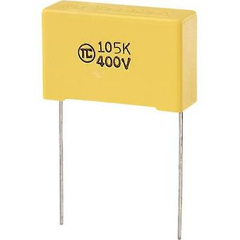 TRU مكونات 1 pc(s) MKS رقيقة الرصاص شعاعي مكثف 1 μF 400 V DC 5 % 27.5 مم (L x W x H) 32 × 11 × 20 مم