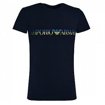 Emporio أرماني شعار تمتد الملابس الداخلية تي شيرت البحرية 111035 0P516