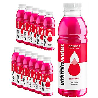 Glaceau Vitamin Water - 12 Pack x 500ml - POWER-C Dragonfruit